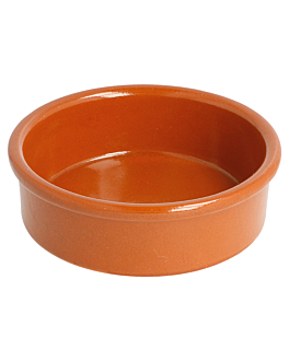crockery containers for appetisers 100 ml Ø 8,95x2,9 cm reddish brown ceramic (42 unit)