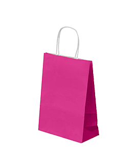 sos bags with handles 80 gsm 20+10x29 cm fuchsia cellulose (250 unit)
