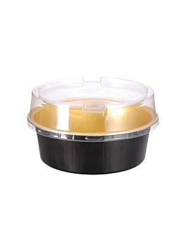 bakery containers 150 ml Ø9,3x3,3 cm gold/black aluminium (100 unit)