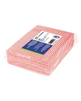 "50 u. wipes ""perfokleen"" 45 gsm 36x44 cm red viscose (1 unit)"