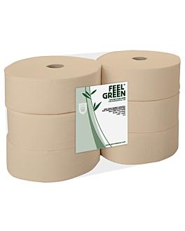 """hygiÉnique """"maxi jumbo"""" ecolabel 2 plis - 1kg 17 g/m2 Ø 26x9,5 cm naturel papier recyclÉ (6 unitÉ)"""