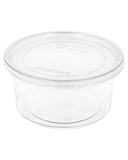 terrina + tampa 500 ml Ø11,7x7,5 cm transparente pet (250 unidade)