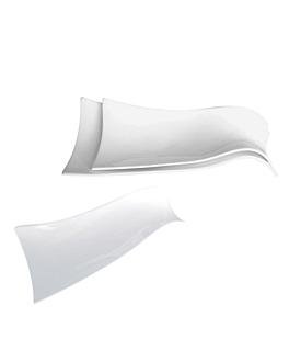 platos forma teja 26 cm blanco porcelana (6 unid.)