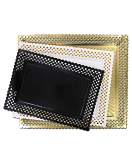 plateaux dentelÉs 'erik' 31x39 cm dore carton (100 unitÉ)