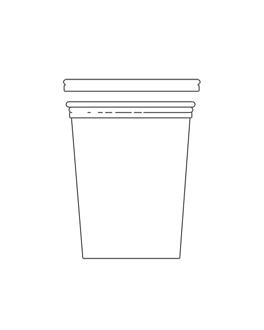 terrina + tampa 1 l Ø11,7x14 cm transparente pet (250 unidade)
