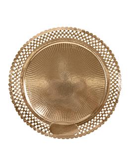doilies plates 'erik' 1200 g/m2 + 300 g/m2 pp Ø 28 cm gold cardboard (100 unit)