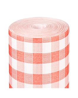 """""""tÊte-À-tÊte"""" prÉ. 120cm (20 feu.) 'like linen - vichy' 70 g/m2 0,40x24 m rouge spunlace (6 unitÉ)"""