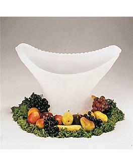 """scultura di ghiaccio """"cesto"""" 45x30x58 cm bianco plastica (1 unitÀ)"""