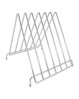 support 6 planches À dÉcouper 27,9x30,5x27,7 cm argente inox (1 unitÉ)