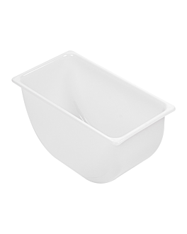 small cocktail container 14x7,4x7,3 cm white pp (1 unit)