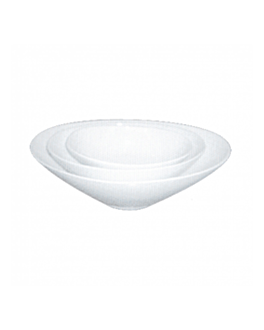 bol ovale 25,5 cm blanc porcelaine (24 unitÉ)