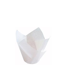 moldes cupcake 'tulip' 50 g/m2 11x11 cm blanco perg. antigrasas (1000 unid.)