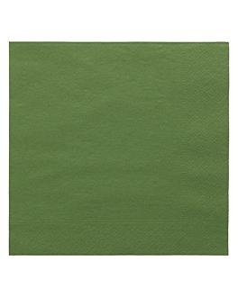 serviettes ecolabel 2 plis 18 g/m2 39x39 cm vert prairie ouate (1600 unitÉ)