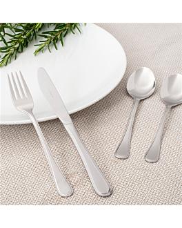 cucharas de postre 'marlene' 18,8 cm plateado acero (12 unid.)