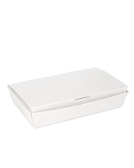 "boÎtes ""lunch box"" couvercles 'thepack' 230 g/m2 27,5x16,5x5 cm blanc carton ondulÉ nano-micro (240 unitÉ)"