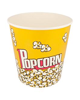 gobelets pour pop-corn 3900 ml 230 +20 pe g/m2 Ø 18,1x19,4 cm carton (300 unitÉ)