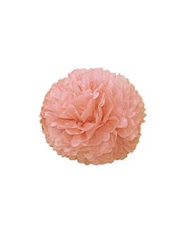 pom pom flower Ø 25 cm rosa (10 unid.)