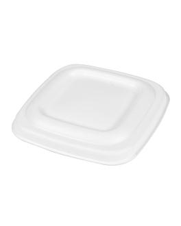 coperchio per terrine 253.86/88/90 'bionic' 8x8x0,8 cm bianco bagassa (600 unitÀ)