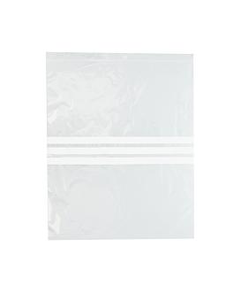 sacs 3 franges auto-fermeture 92 g/m2 50µ 33x40 cm transparent peld (500 unitÉ)