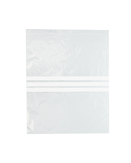 bolsas 3 franjas autocierre 92 g/m2 50µ 33x40 cm transparente peld (500 unid.)