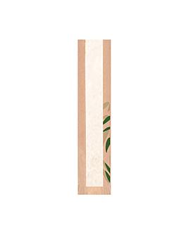 bolsas pan con ventana eco 'feel green' 32 g/m2 9+4x35 cm natural kraft (250 unid.)