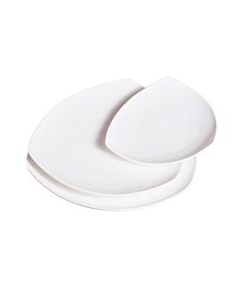 platos triangulares 30,5x3,7 cm blanco porcelana (12 unid.)