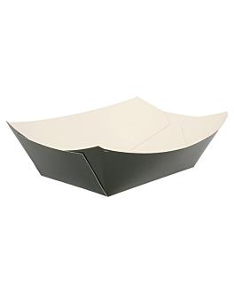 schiffchen 960 g 250 g/m2 10,5x7,2x4,5 cm schwarz feinkarton (200 einheit)