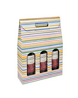 20 u. cajas 3 botellas 'bayadÈres' 27x9x38,5 cm cartÓn (1 unid.)