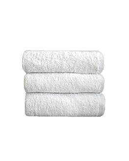 tapis de bain 750 g/m2 50x70 cm blanc coton (16 unitÉ)