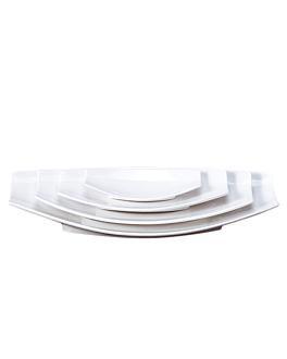 platos barquilla 33,5x16,8x4,7 cm blanco porcelana (6 unid.)