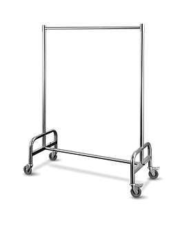clothes hanging rail 120x54x172 cm silver stainless steel (1 unit)