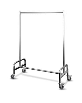 appendiabiti mobile 120x54x172 cm argento acciaio inox (1 unitÀ)