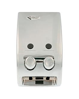 distributeur savon 2 produits 14,5x9,7x27 argente chrome (1 unitÉ)
