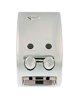 dispenser jabÓn 2 productos 14,5x9,7x27 plateado cromo (1 unid.)