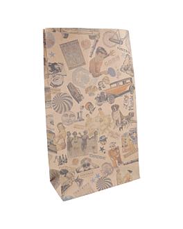 sos bags without handles 'vintage' 80 gsm 20+9x34,5 cm natural kraft (500 unit)