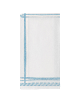 napkins 1/8 fold 'like linen - cottage' 70 gsm 45x45 cm blue spunlace (600 unit)