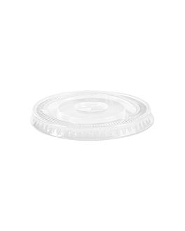 deckel flach fÜr code 226.20/21, 195.52/53 Ø 9,5 cm transparent pet (1000 einheit)