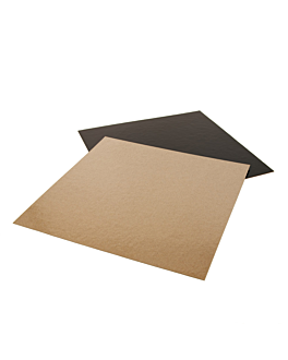 cartone pasticceria doppia faccia 1100 g/m2 24x24 cm cioccolato/pralina cartone (50 unitÀ)