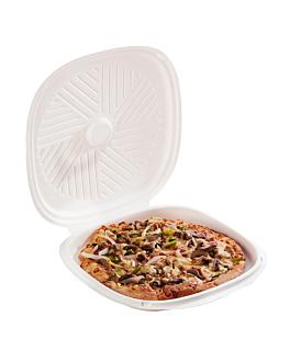 boÎtes pizza 'bionic' Ø35x2,8 cm blanc bagasse (100 unitÉ)