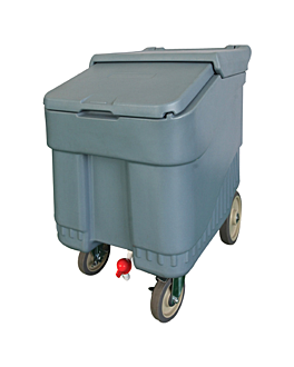 ice trolley 125 l 76x86x53 cm grey plastic (1 unit)