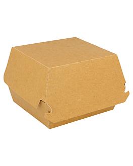 conchas hamb. jumbo 300 g/m2 14x12,5x8 cm marrÓn cartoncillo (50 unid.)