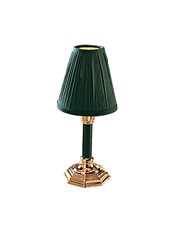 "base ""traditional classic"" 27 (h) cm verde cromo (1 unid.)"