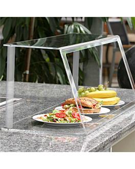 vitrine 60x35x28 cm transparent metacrylate (1 unitÉ)