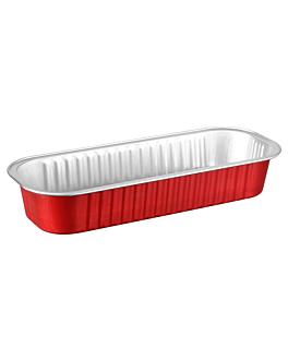recipientes pastelerÍa 200 ml 16,5x6,5x3 cm rojo aluminio (100 unid.)