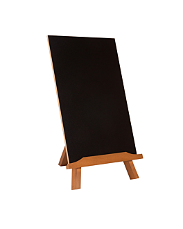chalkboard double sided + table standing 35,5x21,8x18 cm black wood (1 unit)