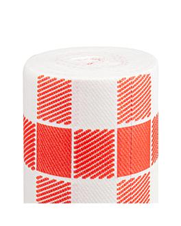 """""""tÚ y yo"""" pre 120cm (20 ser.) 'vichy' 55 g/m2 0,40x24 m blanco airlaid (6 unid.)"""