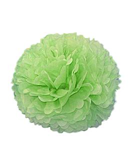pom pom flower Ø 48 cm verde (10 unid.)
