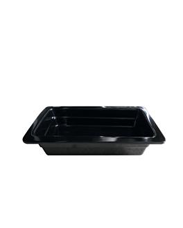 bacs gn 1/3 6,5 (h) cm noir melanine (6 unitÉ)