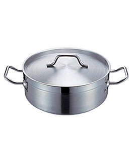 pot with lid 18 l Ø 40x15,5 cm silver stainless steel (1 unit)