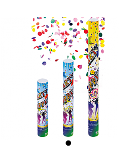 12 tubos confetti shooter 40 (h) cm surtido (1 unid.)